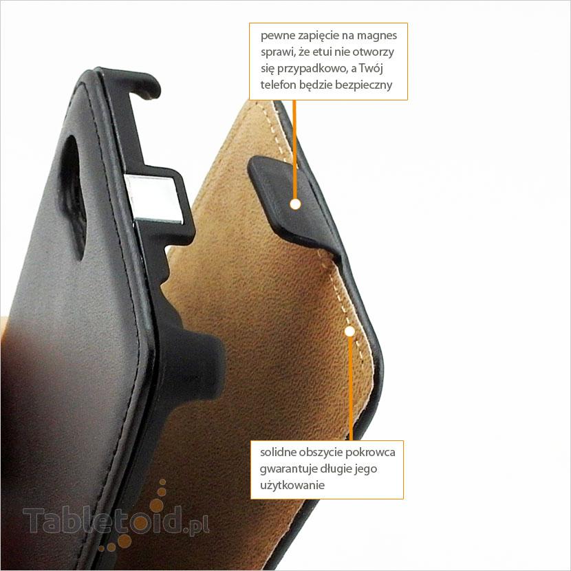 Praktyczne etui otwierane i zamykane magnesem
