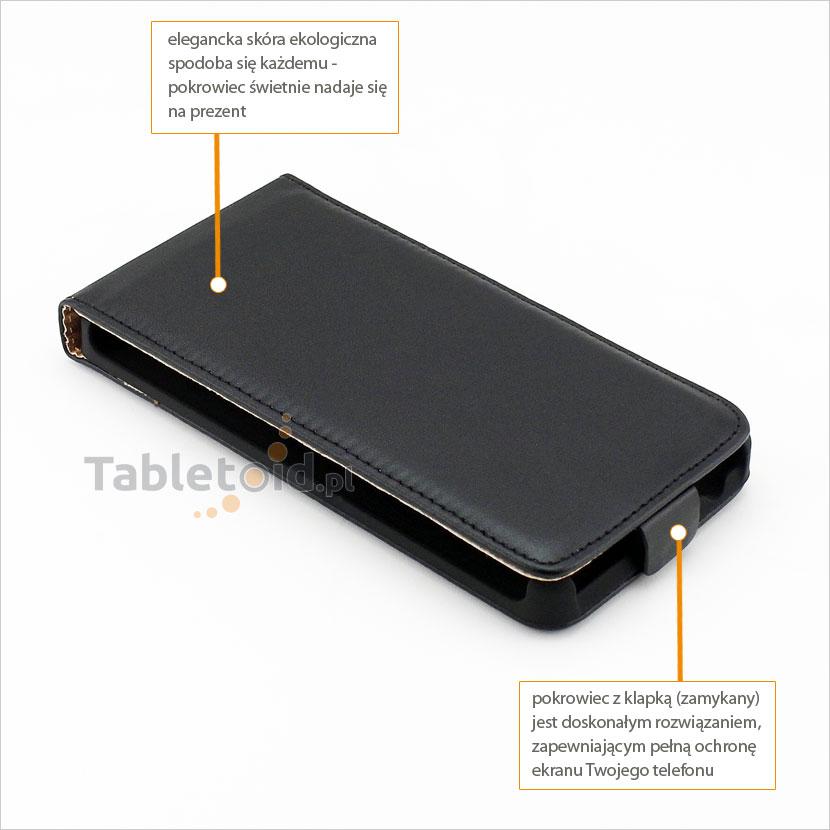 Elegancki pokrowiec na telefon Sony Xperia E3 D2202, D2203, D2206, D2243