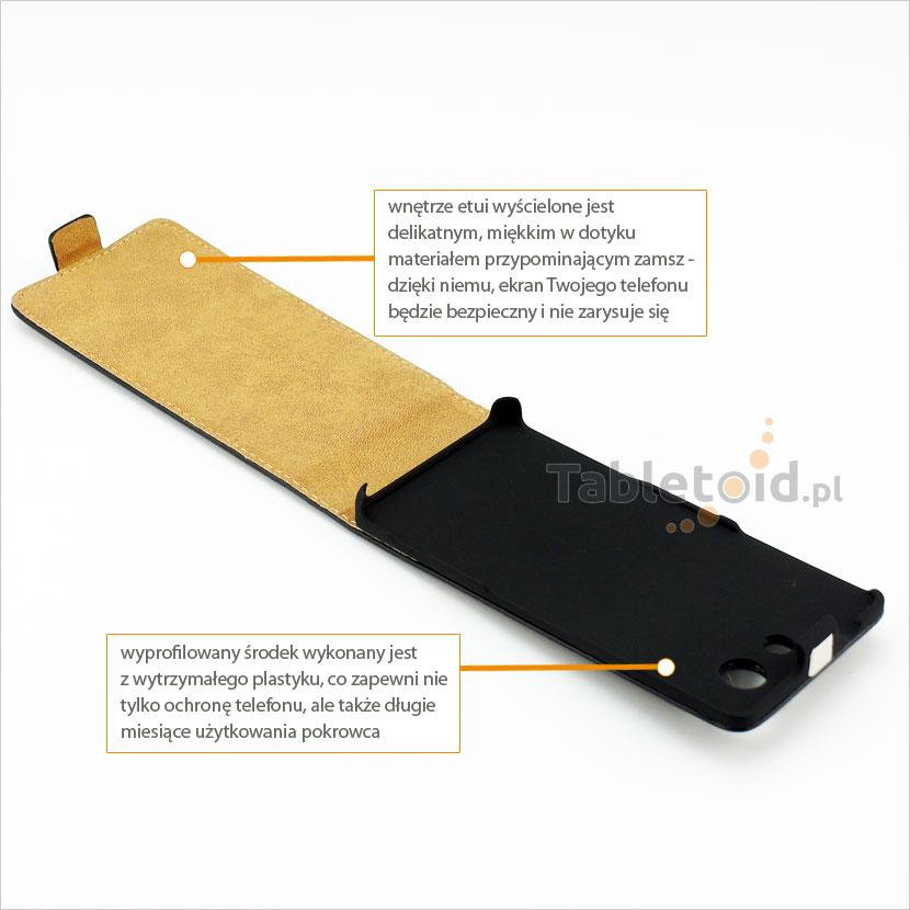 Pokrowiec z klapką na telefon Sony Xperia Z3 Compact