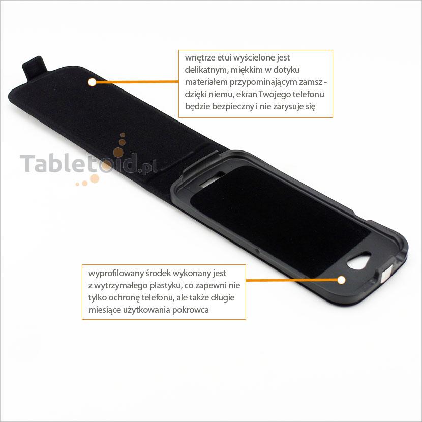 Etui na telefon dedykowany do telefonu HTC One S Z520e