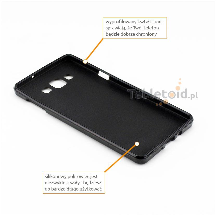 przyciski silikonowe w etui do Samsung Galaxy A 7