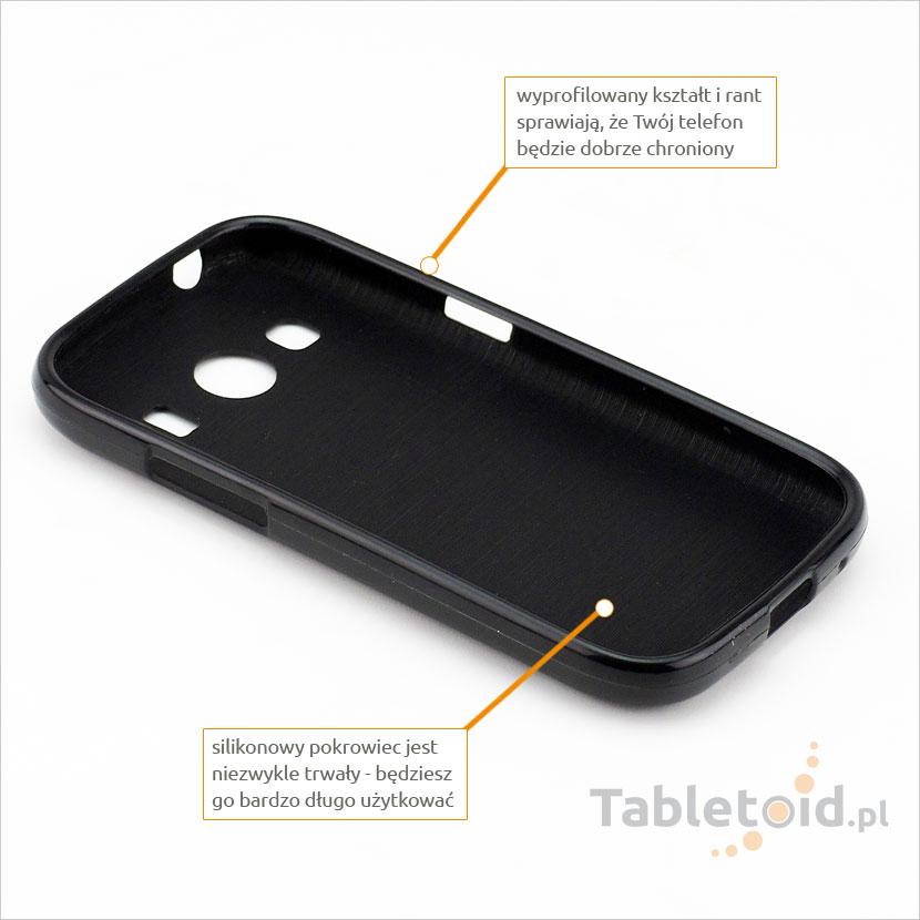 przyciski silikonowe w etui do Samsung G357 Ace 4 4G