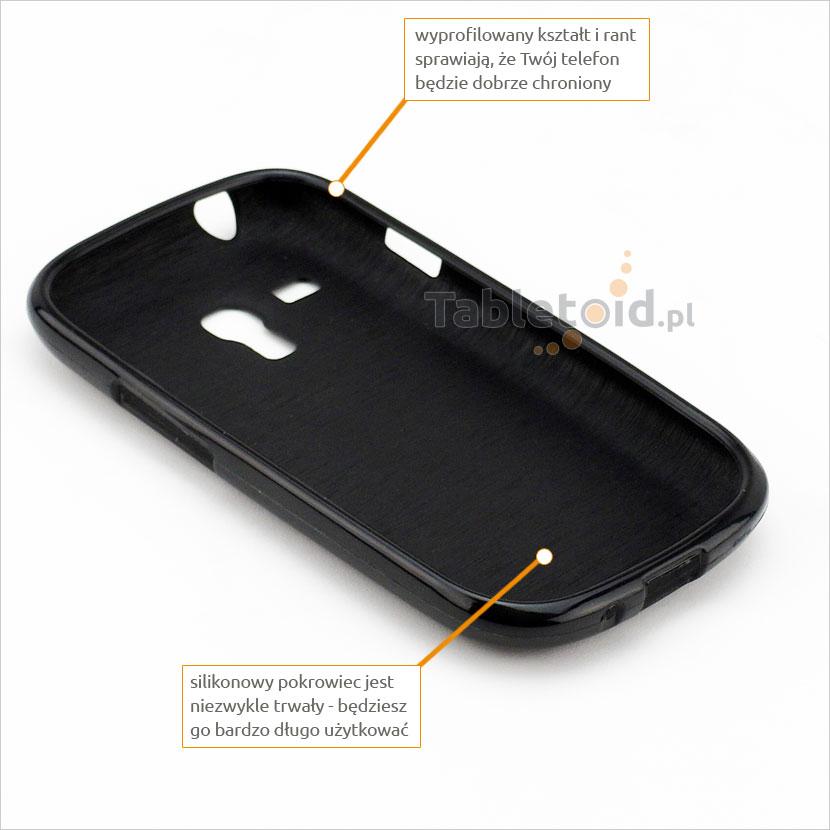 przyciski silikonowe w etui do Samsung Galaxy i8190 S3 Mini