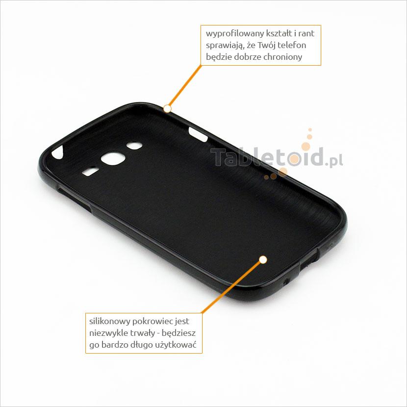 przyciski silikonowe w etui do Samsung Galaxy i9060 / i9080