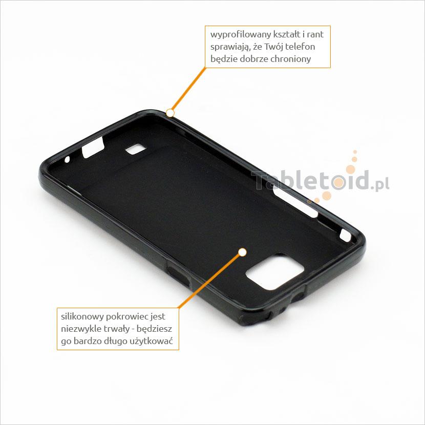 przyciski silikonowe w etui do Samsung i9100 S 2