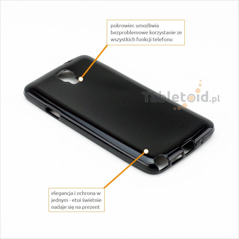 Elegancki silikonowy pokrowiec na telefon