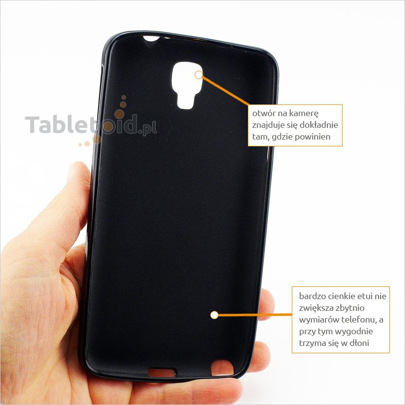 Futerał plecki silikonowy z wyporfilowanymi otworami na funkcję w telefonie  Samsung N750 Note Lite