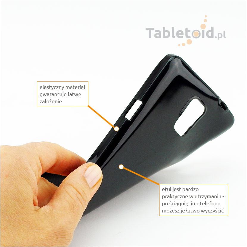 Elastyczny plastyczny pokrowiec dedykowany do telefonu Samsung Galaxy Note 4