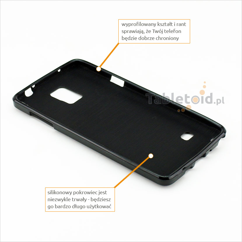 Wyprofilowany środek pokrowca na telefon Samsung Galaxy Note 4