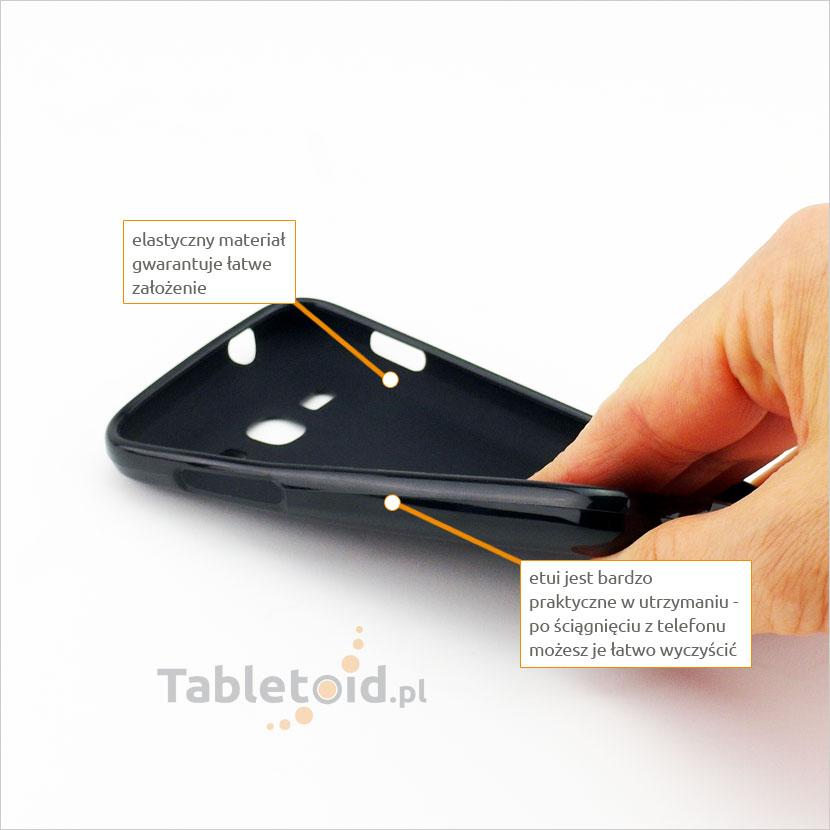 Flexi elastyczne bardzo praktyczne w utrzymaniu etui  na telefon Samsung S 7270 Ace 3