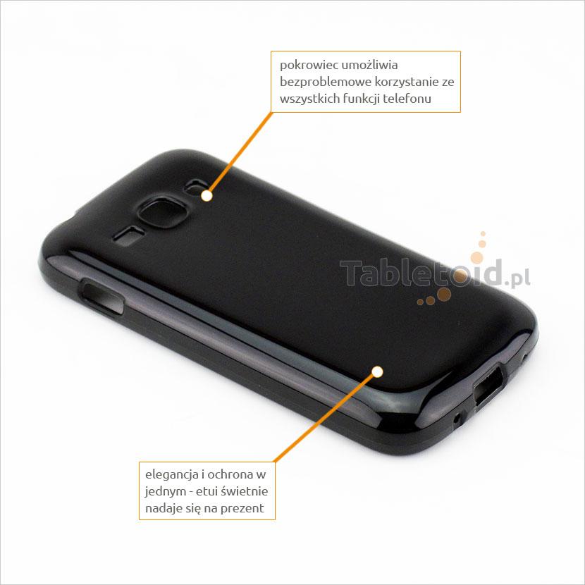 Pokrowiec na telefon Samsung S 7270 Ace 3 umożliwia z korzystania z wszystkich  funkcji