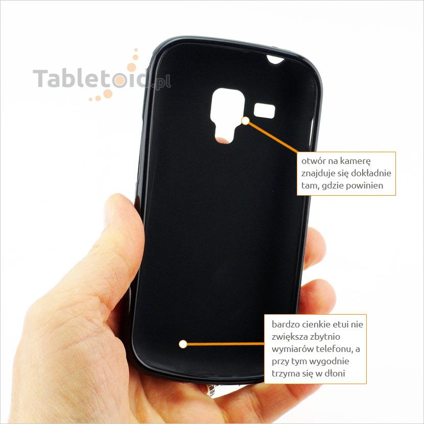 Cienkie dopasowane dedykowane poręczne etui na smartfon Samsung S7560 S7580