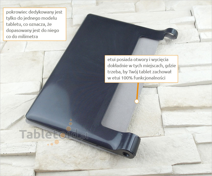 pokrowiec na tablet z ekoskóry  Lenovo Yoga 10 X50F