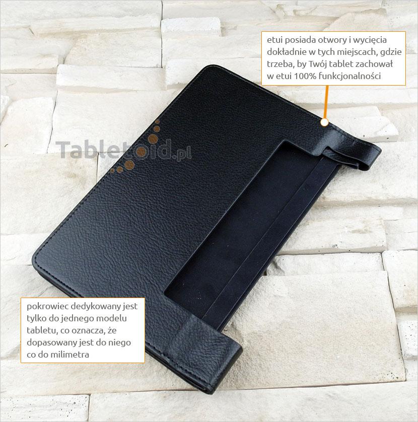 pokrowiec na tablet z ekoskóry Lenovo Yoga Tab 3 850F