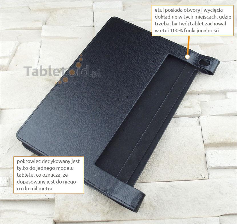 pokrowiec na tablet z ekoskóry Lenovo Yoga 3 10 Pro X90F