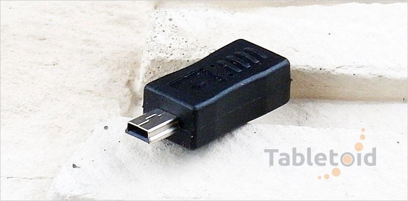 Adapter sygnalowy gniazdo micro USB - wtyk mini USB