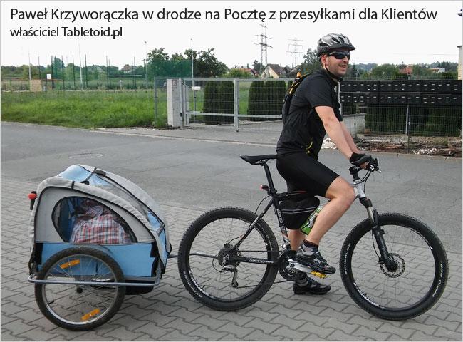 Paweł Krzyworączka w drodze na Pocztę