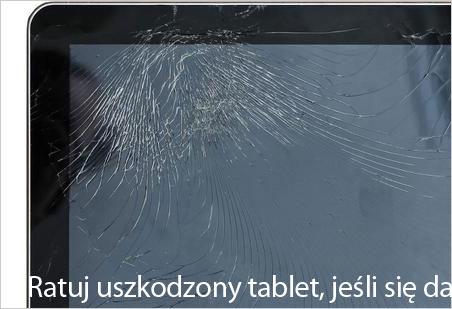 Ratuj panel dotykowy tabletu
