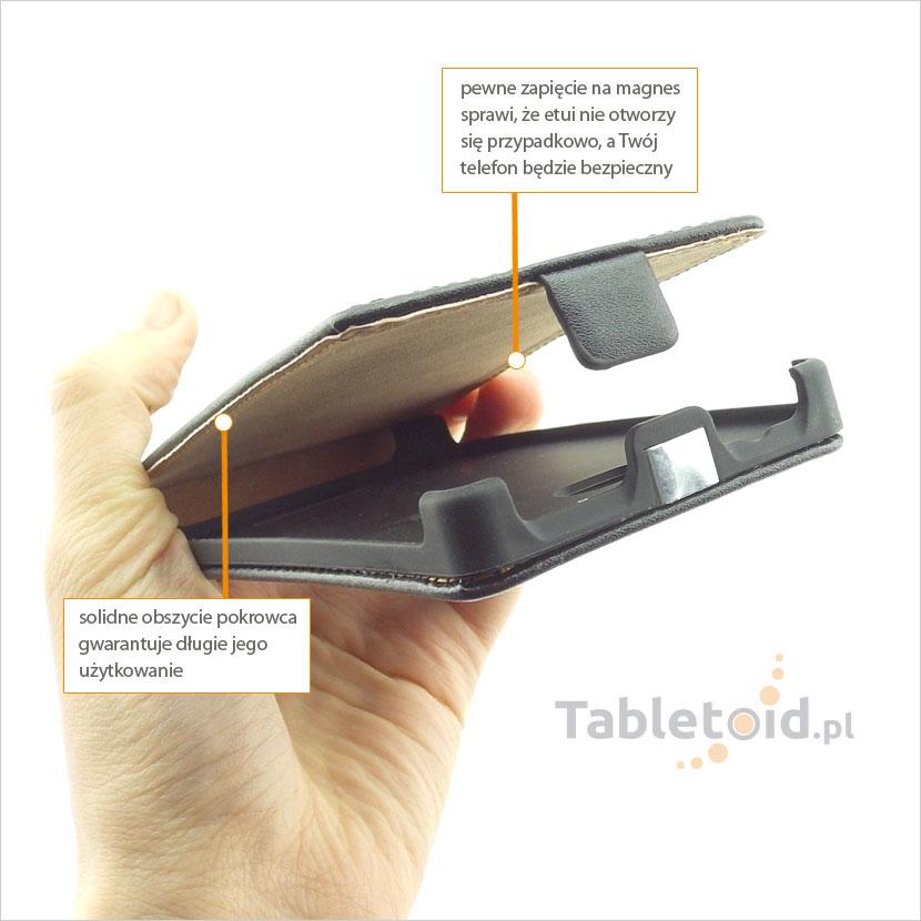 Pokrowiec zamykany na magnes do telefonu HTC Windows Phone 8X