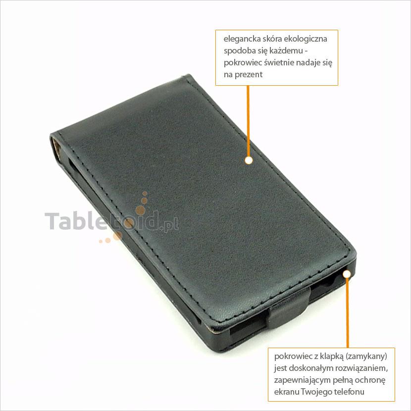 Skórzany pokrowiec do telefonu LG Swift L5