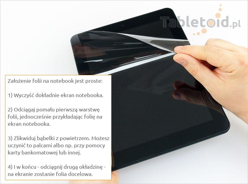 instrukcja zakłdania na notebooka14,1
