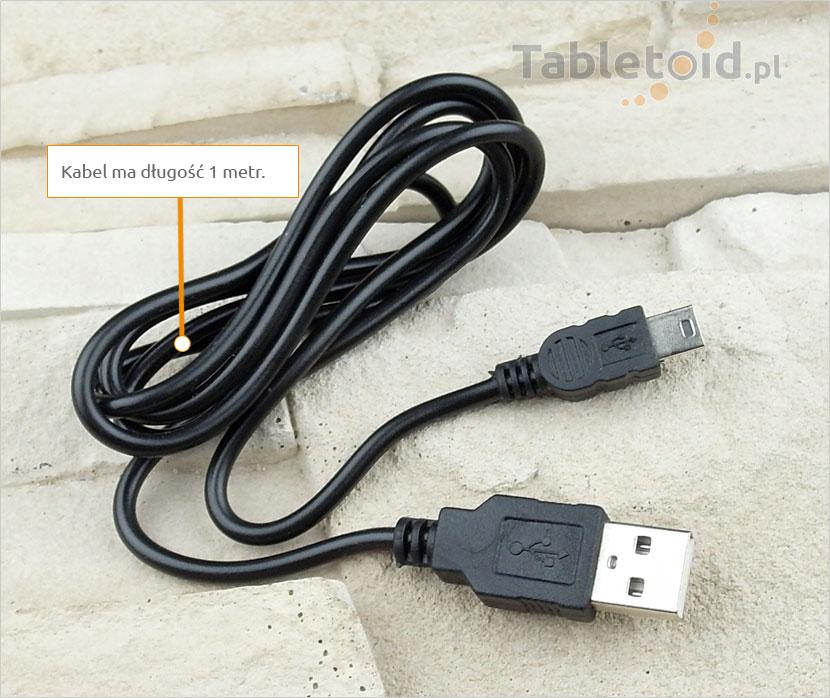 Kabel: mini USB do zwykłego USB – do tabletu