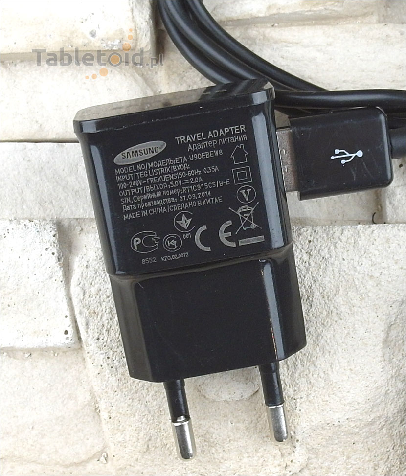 Ładowarka 5V 2A sieciowa tabliczka