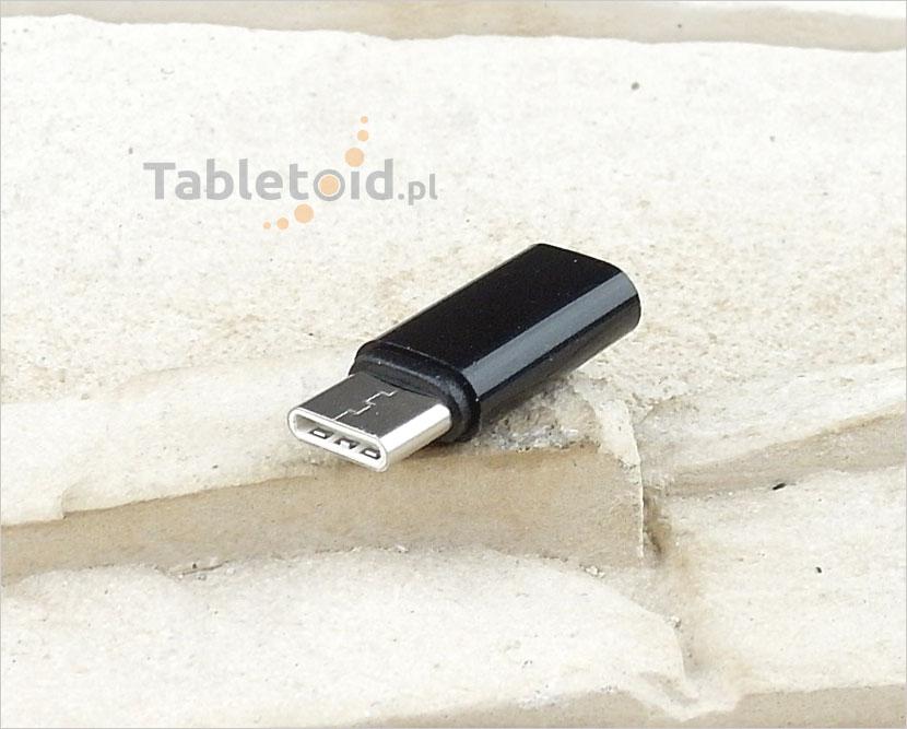 Przejściówka – adapter: wtyk USB-C- gniazdo micro USB