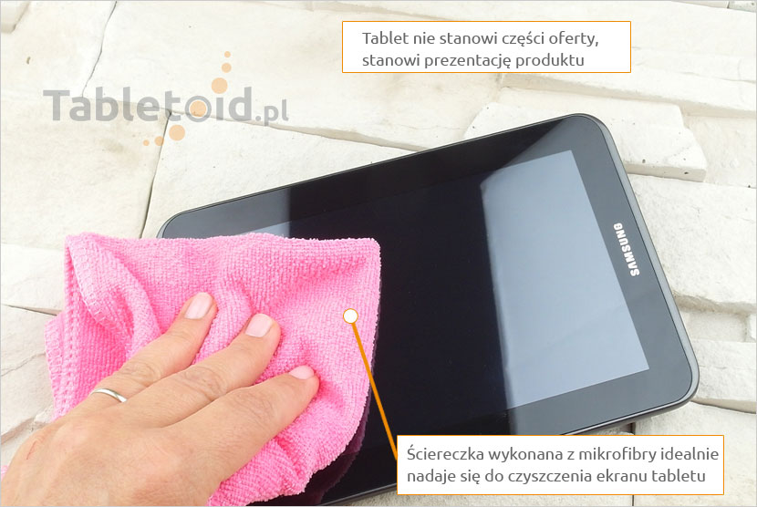 tablet sciereczka-mikrofibra