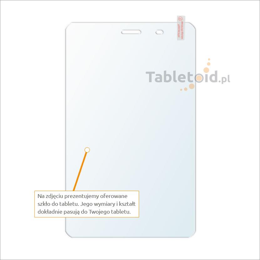 Dedykowane szkło hartowane (glass) na tablet Huawei Honor S8-701