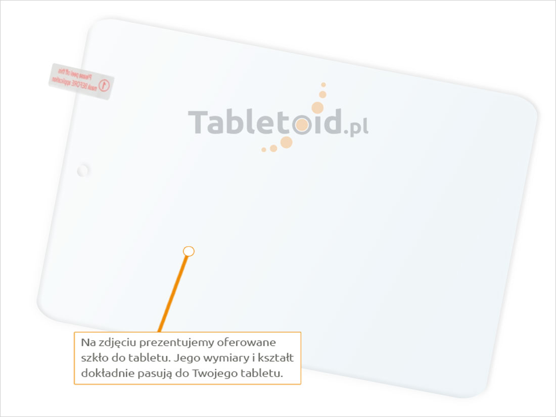 Dedykowane szkło hartowane (tempered glass) na tablet Lenovo Miix 3 830