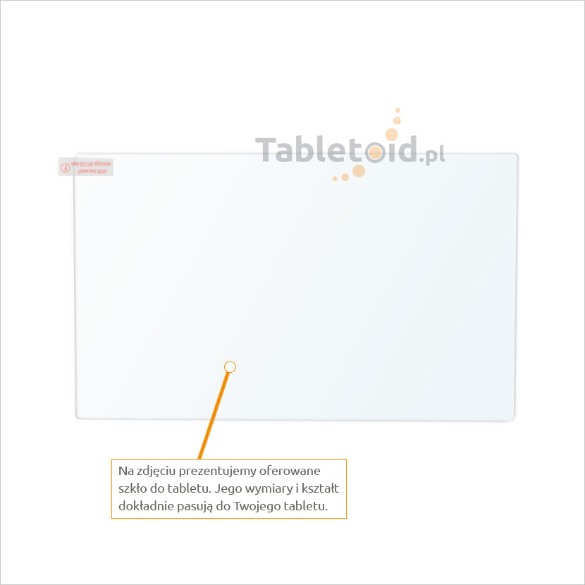 Dedykowane szkło hartowane (tempered glass) na tablet Lenovo Yoga Tab 3 8 850