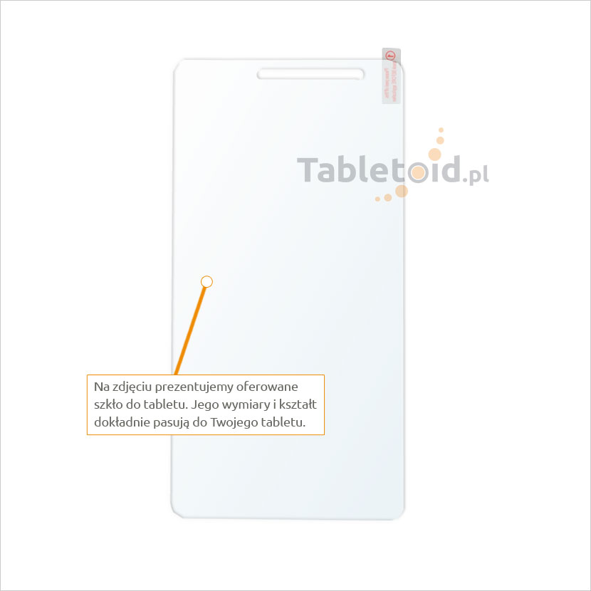 Dedykowane szkło hartowane (tempered glass) na tablet Lenovo PHAB Plus 770N