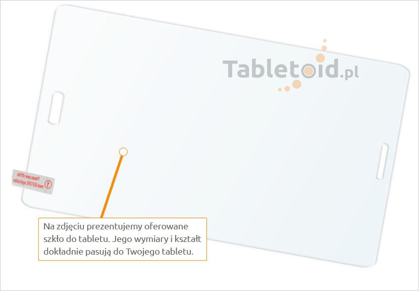 Dedykowane szkło hartowane (tempered glass) na tablet Samsung Galaxy Tab A 7.0