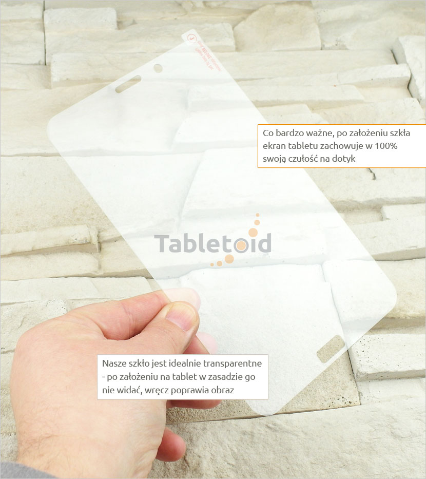szkło hartowane na tablet  Samsung Galaxy E 7.0 w reku