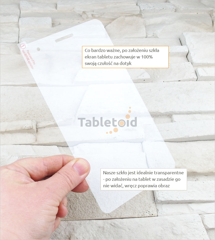 Szkło hartowane w ręku  Huawei MediaPad-7-t1-701
