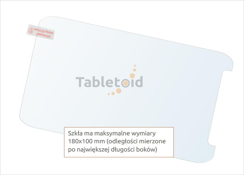 Dedykowane szkło hartowane (tempered glass) na tablet uniwersalne 7 cali