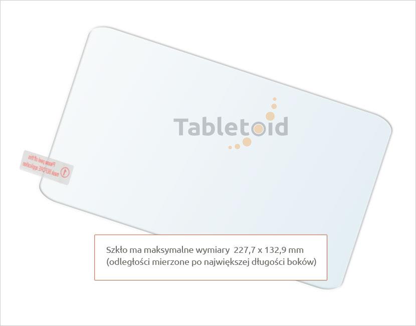 Dedykowane szkło hartowane (tempered glass) na tablet uniwersalne 9 cali