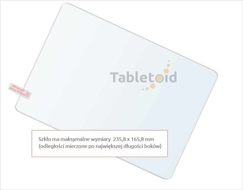 Dedykowane szkło hartowane (tempered glass) na tablet Hykker myTab 10 Biedronka