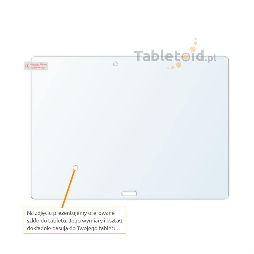 Dedykowane szkło hartowane (tempered glass) na tablet Huawei MediaPad M2