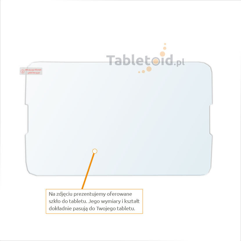 Dedykowane szkło hartowane (tempered glass) na tablet Lenovo A7-30 A3300