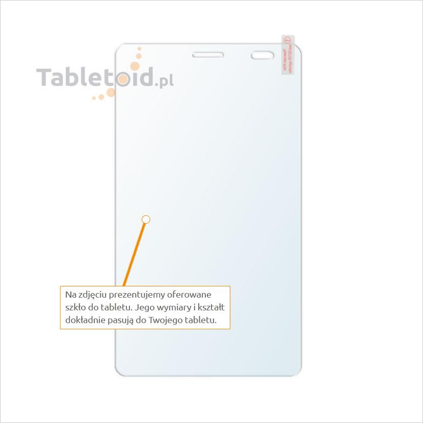 Dedykowane szkło hartowane (tempered glass) na tablet Huawei X2