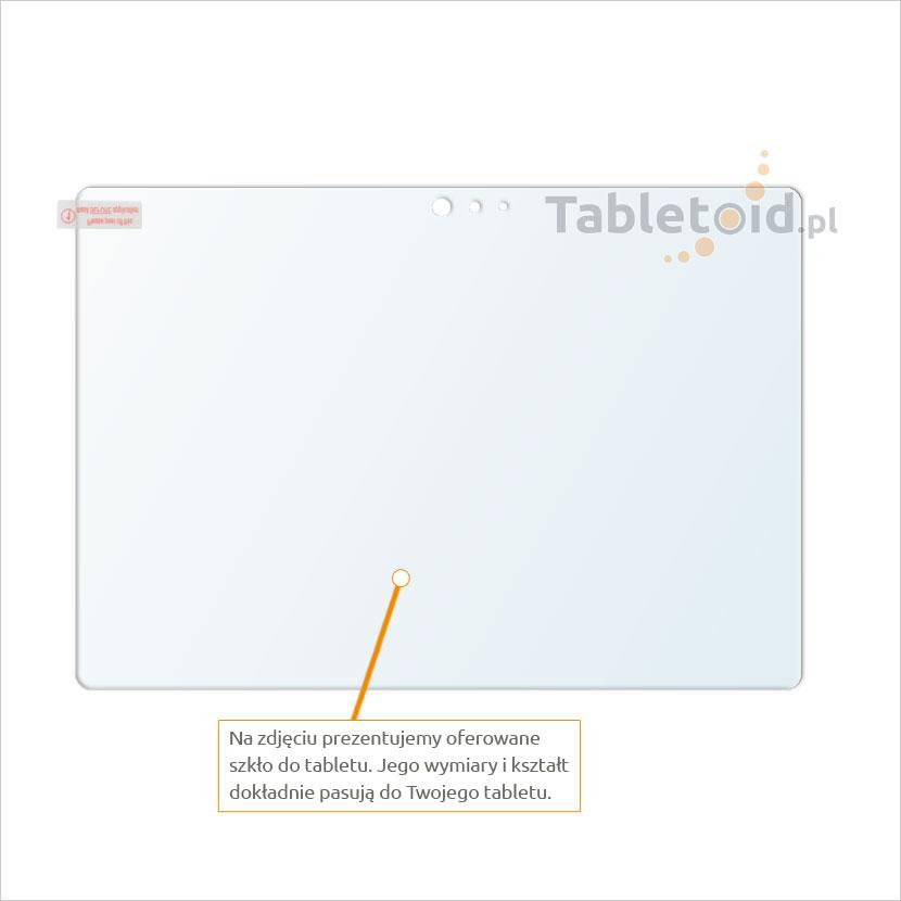 Dedykowane szkło hartowane (glass) na tablet Microsoft Surface 3