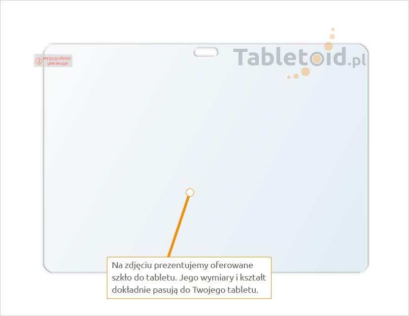 Dedykowane szkło hartowane (glass) na tablet Samsung Galaxy Note 10.1 p600