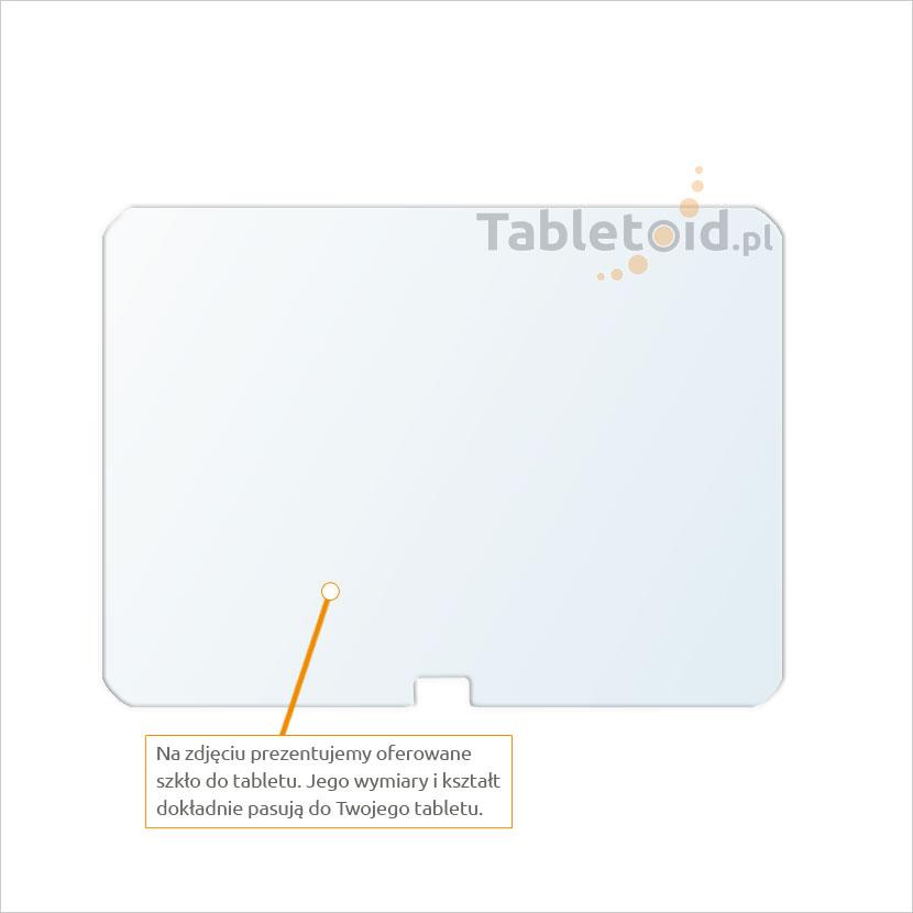 Dedykowane szkło hartowane (glass) na tablet Samsung Galaxy Tab 3 10.1