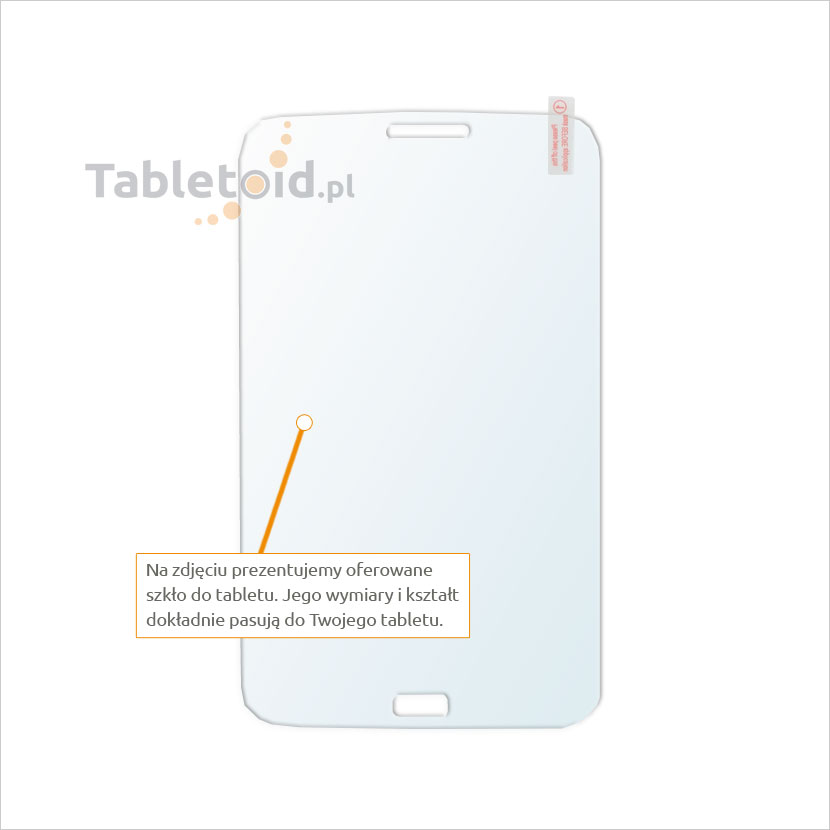 Dedykowane szkło hartowane (glass) na tablet Samsung Galaxy Tab 3 7.0