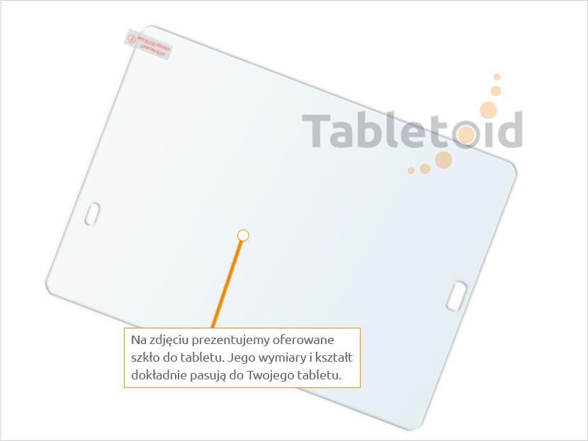 Dedykowane szkło hartowane (glass) na tablet Samsung Galaxy Tab S2 9.7