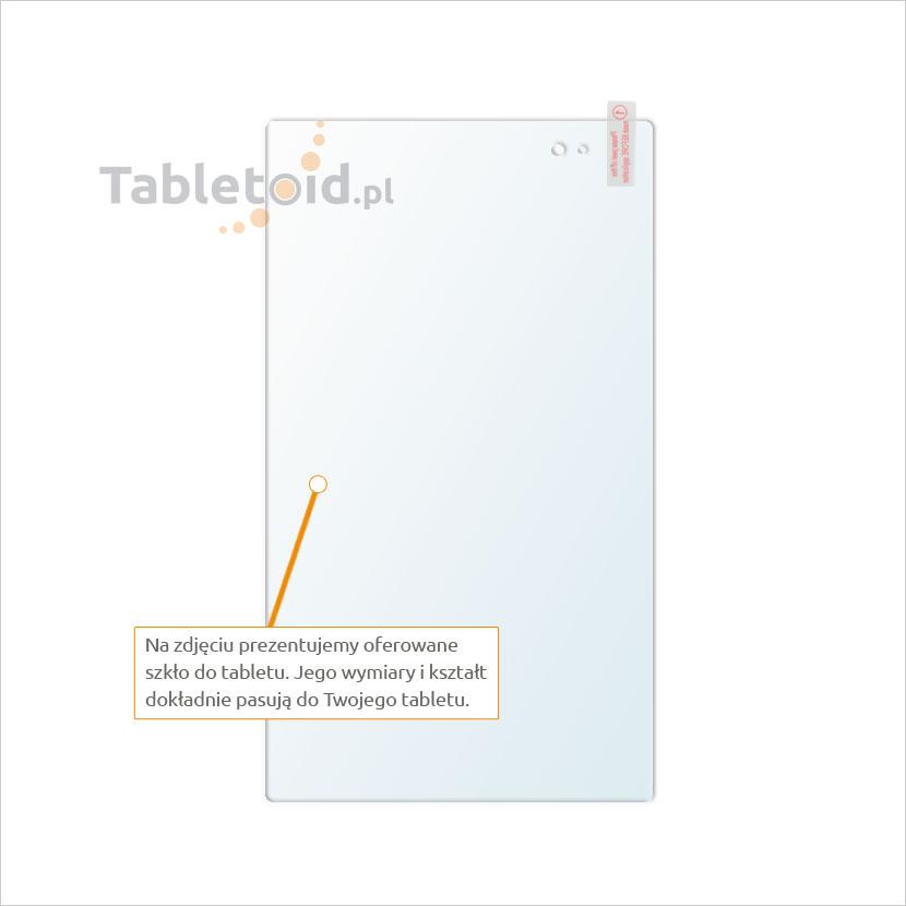 Dedykowane szkło hartowane (glass) na tablet Sony Xperia Z3 Tablet Compact
