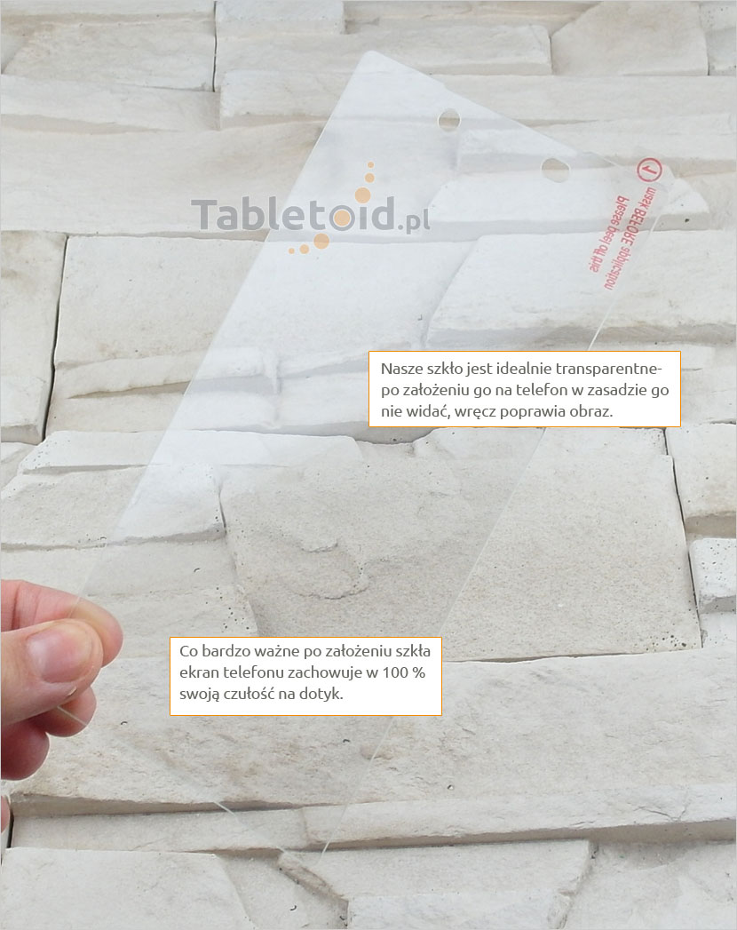 Szkło hartowane dedykowane na telefon Sony Xperia Z5+