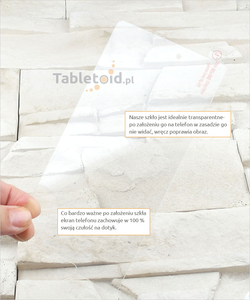 Szkło hartowane dedykowane na telefon Microsoft Lumia 950